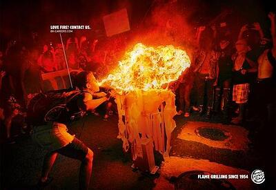 Burger King Flame Grilling Advertising Campaign