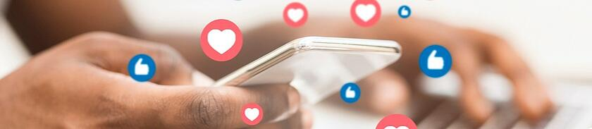 social media engagement and phone