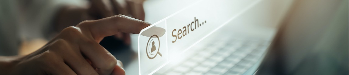 person performing keyword research