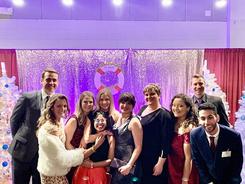 team photo at Holly Ball